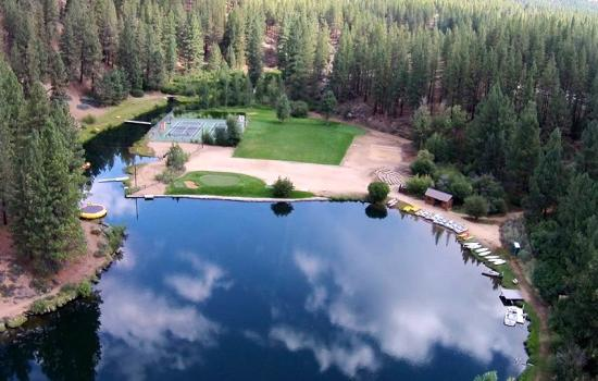 aerial of summer camp