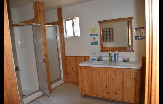 dorm bathroom Walton's grizzly lodge summer camp