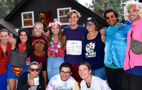 dress up time with camp counselors