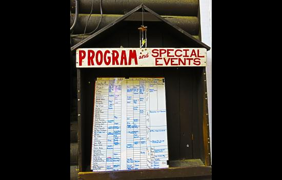 "The Program and Special Events ""House"" at camp"