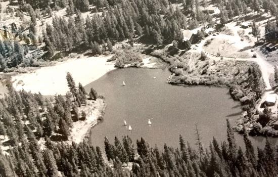 private lake at camp