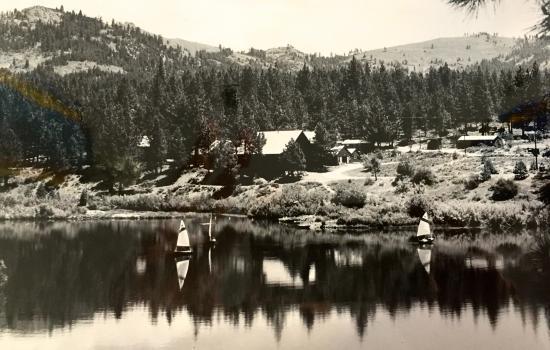 summer camp on a lake