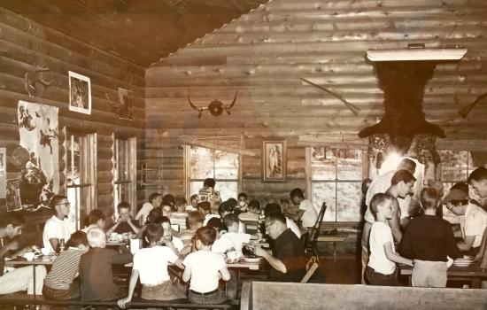 dining hall at summer camp
