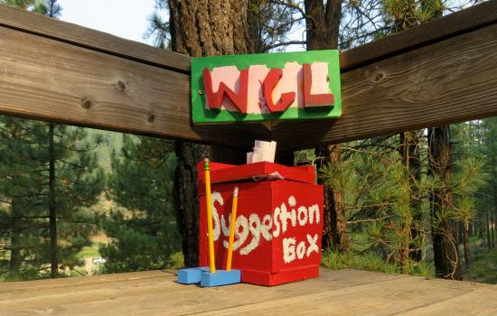 suggestion box for summer camp improvements