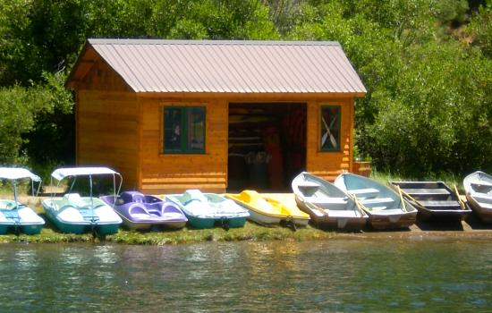 The Boathouse at grizzly lodge summer camp