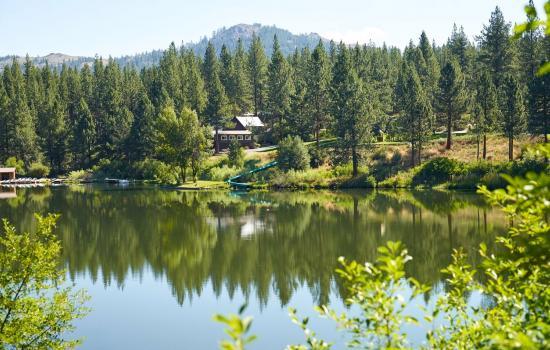 private lake at california summer camp