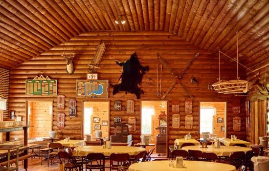 historic lodge at summer camp in california