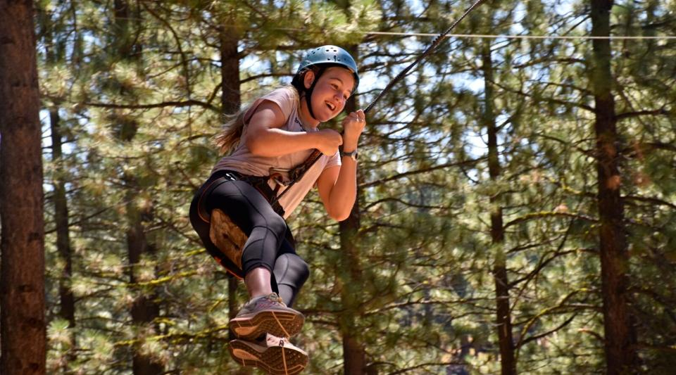 california summer camp ropes course activities