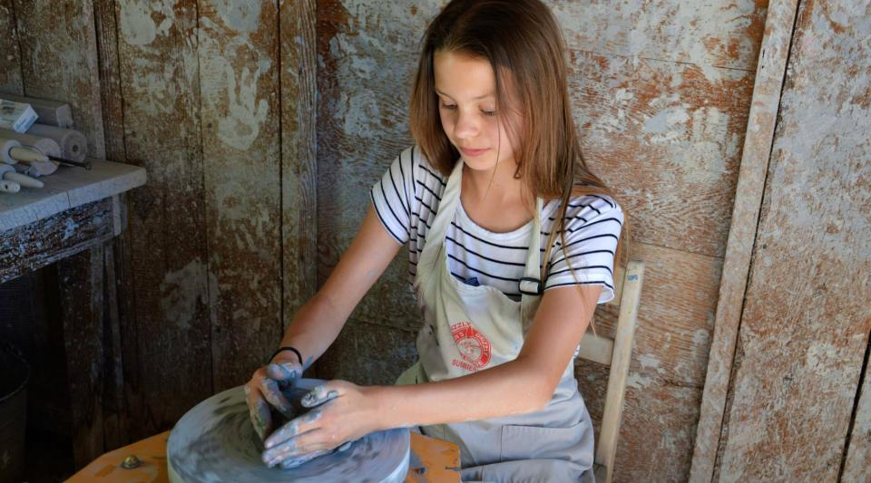 ceramics at summer camp for kids
