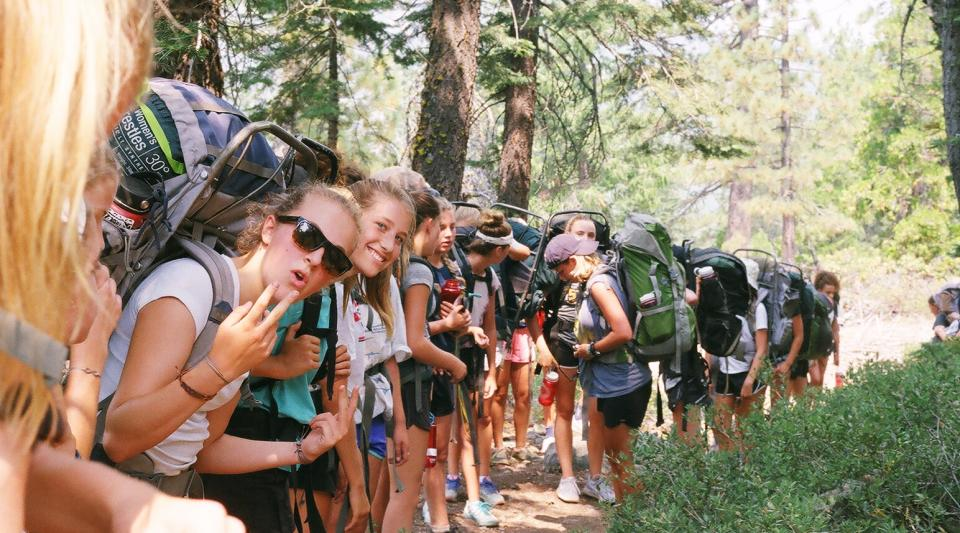 Backpack trip at Walton's summer camp