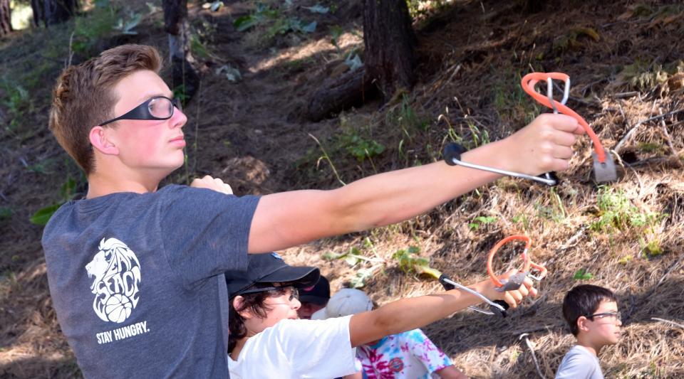 slingshot range at California summer camp