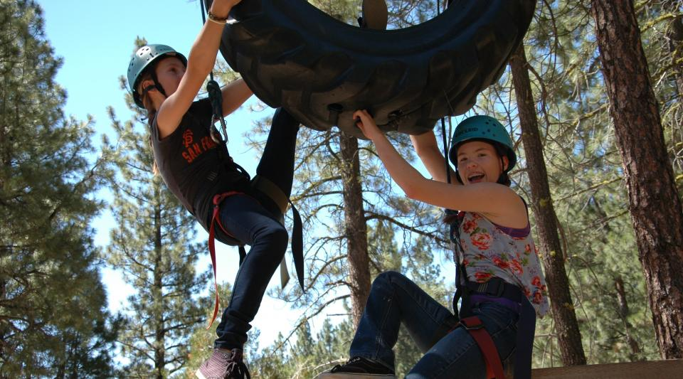 california summer camp ropes course challenges