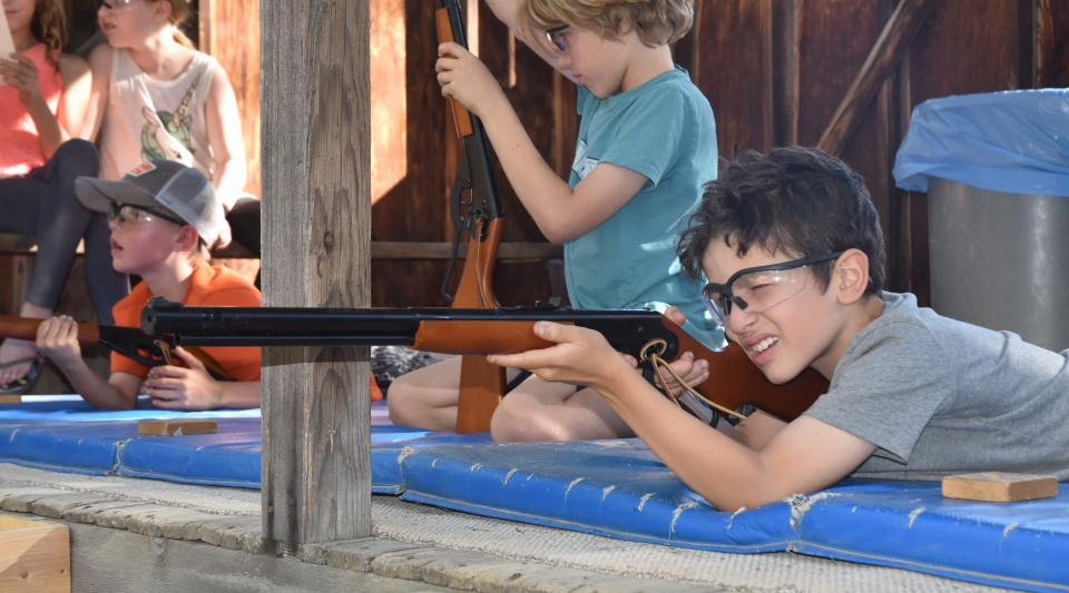 walton's campers learn the basics at air rifle