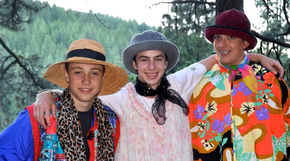 campers dressing up at summer camp