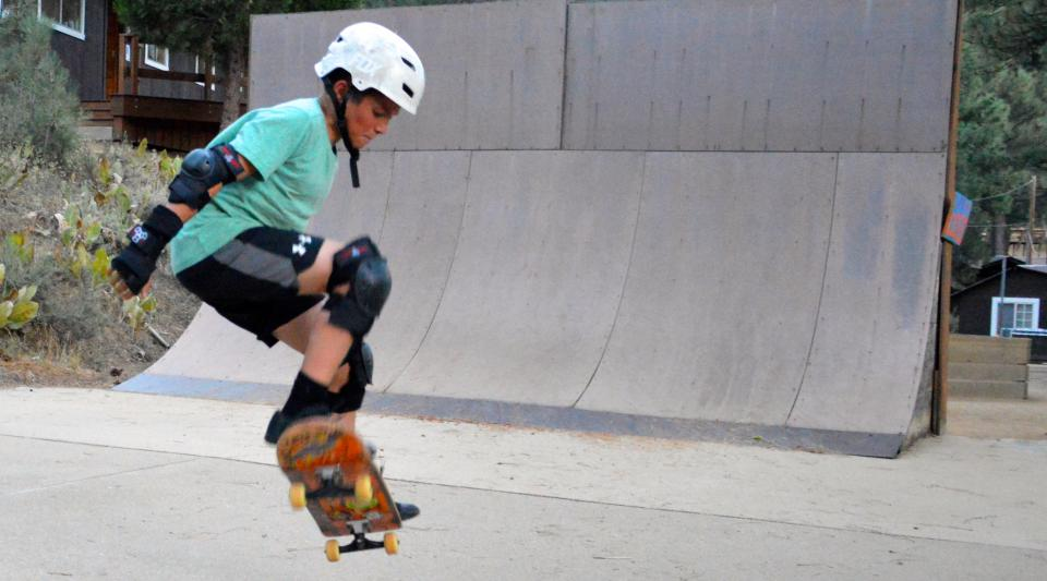 skateboarding at tahoe summer camp for kids