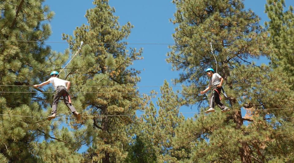 sleepaway camp with ropes course in california