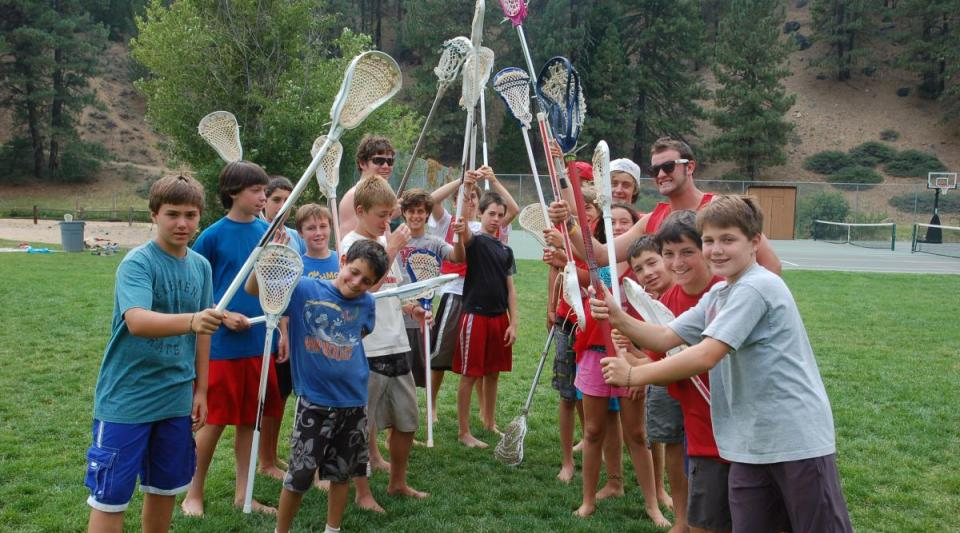 lacrosse of kids at walton's grizzly lodge