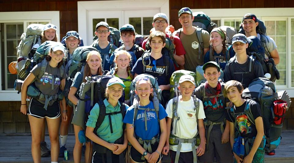 campers learn to backpack at grizzly lodge