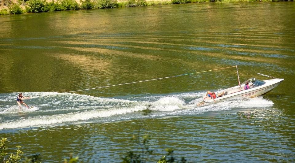 wakeboarding and waterskiing at summer camp