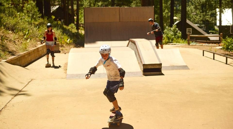 skateboarding for beginners at summer camp