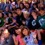 saying goodbye at the end of summer camp