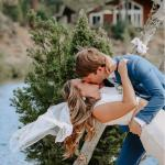 camp wedding at Walton's grizzly lodge summer camp