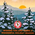 Holiday wishes from Walton's Grizzly Lodge