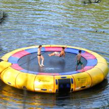 water trampoline on our lake