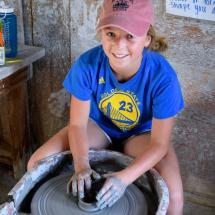 ceramics at summer camp