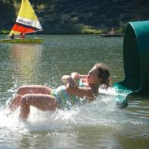 water sliding on our private lake
