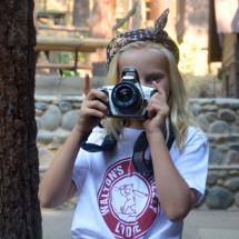 taking photos at summer camp for kids