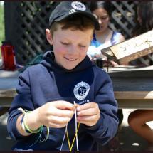 arts and crafts at California summer camp