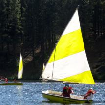 sailing on our private lake
